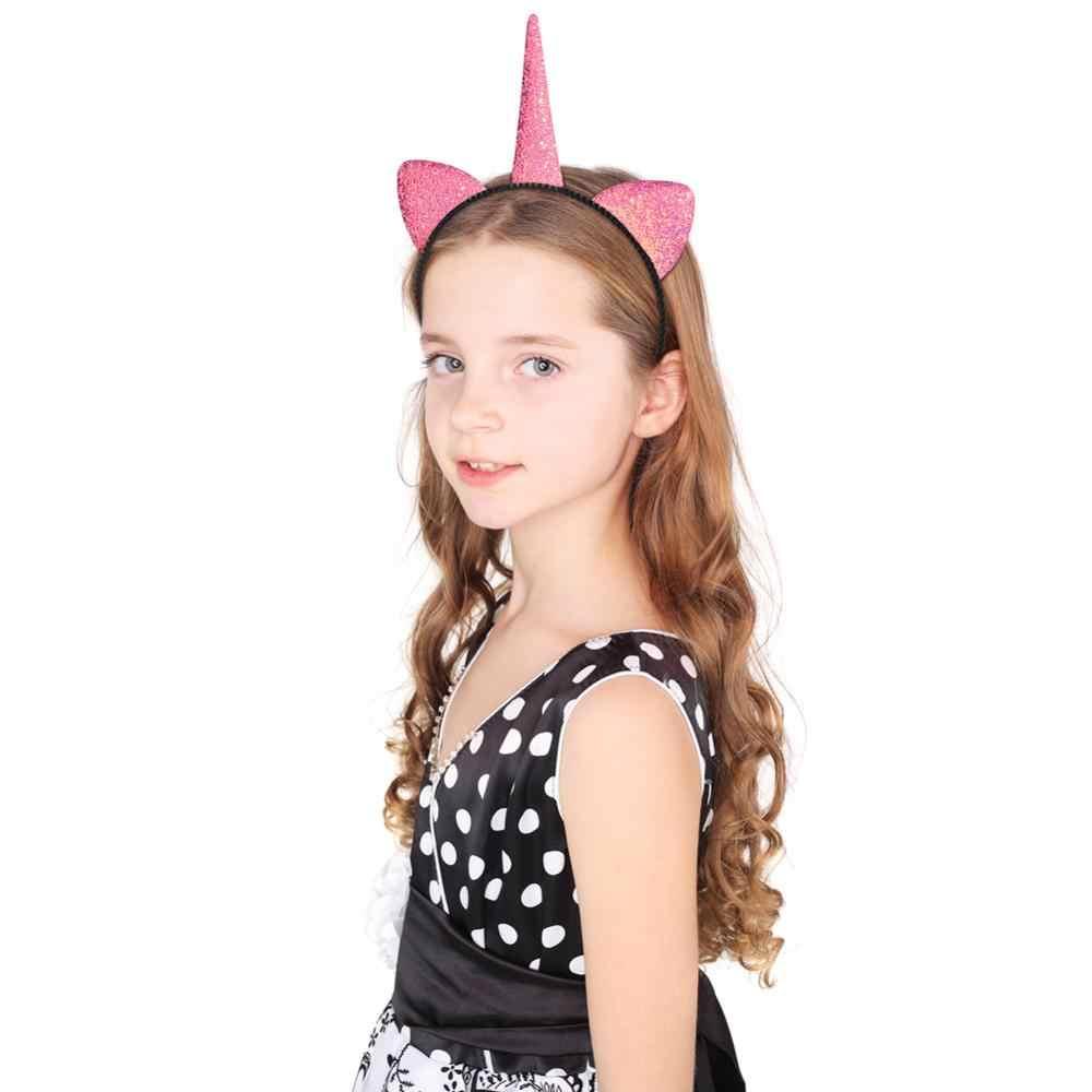 Fioday блеск ободки с единорогами для девочек 1 шт/8 шт Радуга кошачьи уши волос для День рождения поставки детские аксессуары для волос