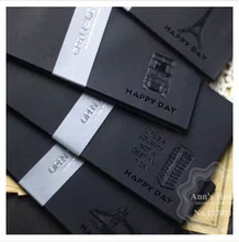 10PCS/LOT 19.7*10.5CM Scalding Black Paper Envelope DIY Scrapbooking Stationery Decorative Postcard Greeting Card