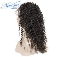 Бразильские афро кудрявые вьющиеся пучки парик с 4x4 закрытия new star Virgin натуральные волосы парик фронта шнурка с волосами младенца вьющиеся п