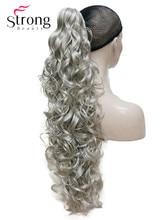 """StrongBeauty 32 """"kręcone syntetyczne klip w pazur sznurek kucyk przedłużanie włosów włosy syntetyczne Hairpiece 270g z szczęki/ pazur klip"""