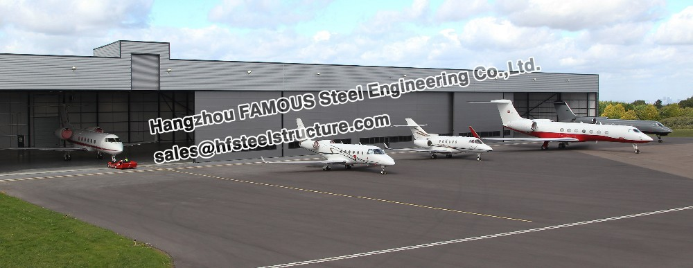 Steel Wide Span Aircraft Hangar Buildings And Airport Terminals