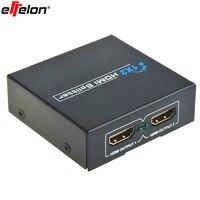 Effelon 2 Port 3D Hdmi Splitter 1x2 1080 P HDMI Commutateur Amplificateur répéteur DC 5 V Alimentation Adaptateur 1 En 2 Sur Commutateur