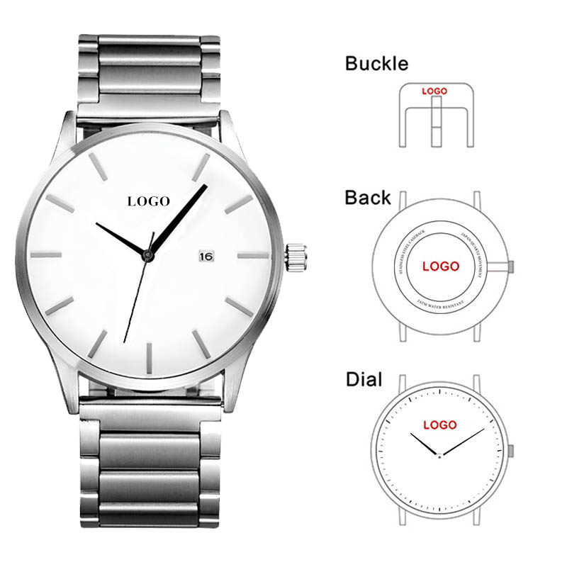 CL006 StainlessSteel Mens Watches OEM Logo Men Classic Watch Minimalist Style Build Your Own Brand Business Watch Relojes HombreCL006 StainlessSteel Mens Watches OEM Logo Men Classic Watch Minimalist Style Build Your Own Brand Business Watch Relojes Hombre
