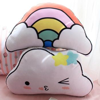 1 PC 45*30 CM kreatywny śliczne Rainbow chmura zabawki pluszowe chmury poduszka poduszki poduszki Sofa poduszki do dekoracji domu tanie i dobre opinie Zwierzęta i Natura no fire 2-4 lat 14 lat 8 ~ 13 Lat Urodzenia ~ 24 Miesięcy Dorośli 5-7 lat Yoocour LJ066 31 cm-50 cm