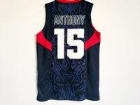 15 Кармело Энтони 9 Дуэйн Уэйд 2008 Dream Team USA Цзин игры Баскетбол Майки Возврат прошитой
