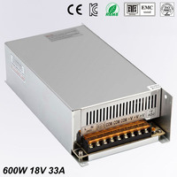 Single Output dc 18V 33A 600W Switching power supply For LED Light Strip 110V 240V AC to dc18V SMPS With CNC Electrical Equipmen