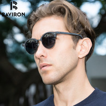 BAVIRON Men Wooden Grain Sunglasses Classic Style Sun Glasses Women Polarized Fashion Single Bridge Wood Sunglasses Gafas 4246
