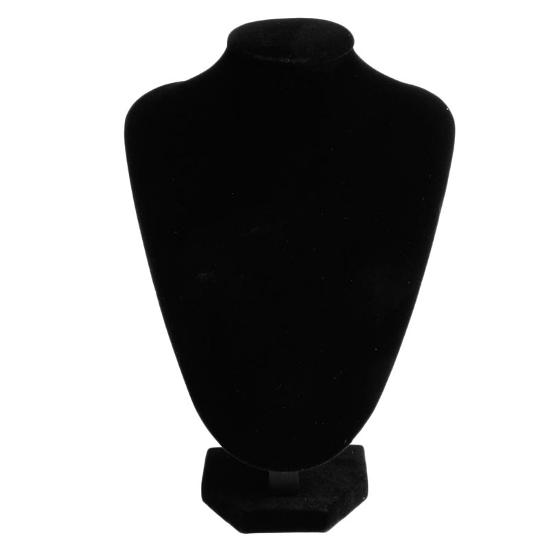 Black Velvet Necklace Jewelry Pendant Display Stand Holder Showcase Decorate New