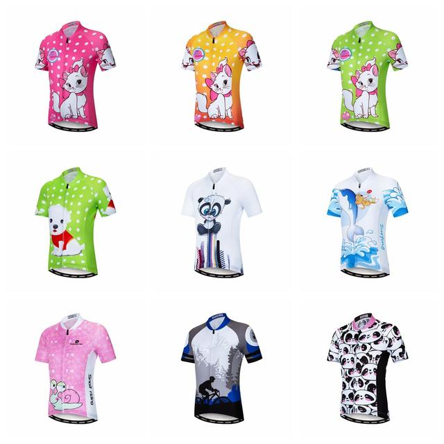 9052bd3f18f3a Special Price Weimostar Summer Girls Cycling Jersey Shirt Kids Short Sleeve  Ropa ciclismo Children Breathable Sports
