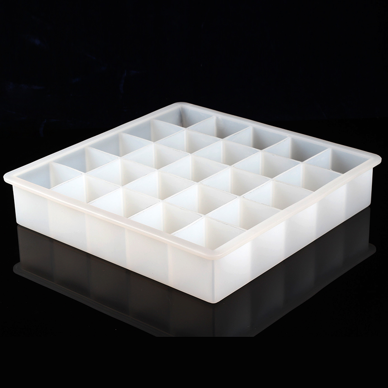 Nicole Silicone Soap Mold White 25-Cavity Handmade Loaf Bar Mould
