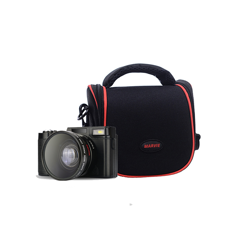New Full HD 1080P 24MP Digital Photo Camera Video Camcorder with Camera Bag Optional Wide Angle Lens