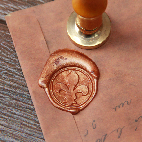Online Shop Fleur De Lys Wax Seal Stamp Decorative Sealing WS059