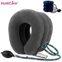 3 слоя надувной воздушный шейки вытягивающее устройство для шеи, мягкая, с круглой горловиной, подушка для боли в спине, игрушка для снятия с...