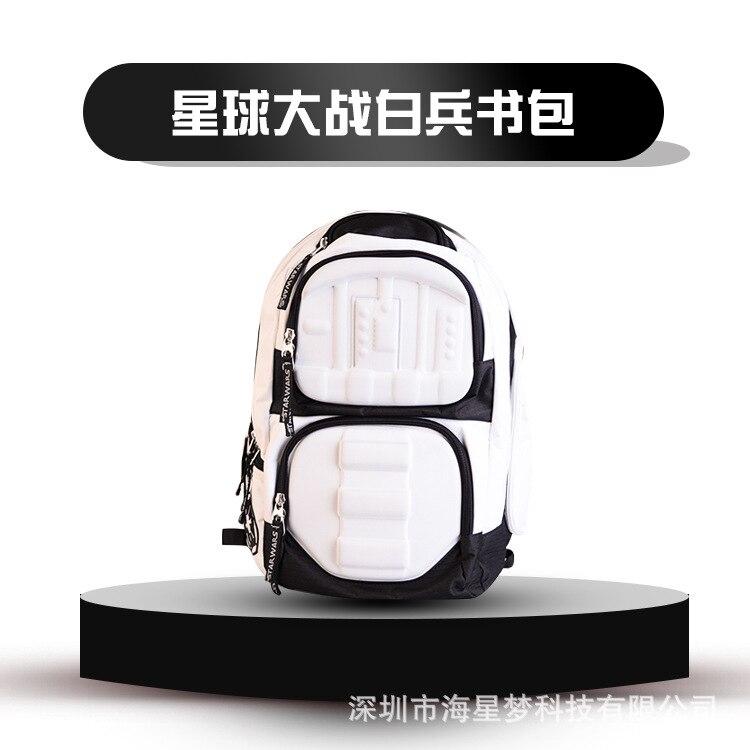 Star Wars, Star Wars ranger pions blancs unisexe blanc noir sac à dos sac à dos
