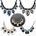 Fashion Vintage Gold Plated necklaces & pendants For women Statement Necklace Luxury Rope Crystal Collares Choker Necklace