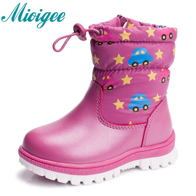 6b9152dde Mioigee 2017 Russian winter baby warm shoe children's boy shoes fashion  waterproof non slip girls warm cotton shoes size 22 27-in Sneakers from  Mother ...