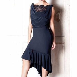 Image 2 - Latest Latin Dance Dresses For Ladies Black Colors Sleeveless Durable Skirts Wears Women Modern Ballroom Dresses Fashions B013