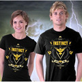 Couple T Shirt Picachu Pokemon Go Valor Team Mystic Team Instinct Pikachu T-Shirt Funny Games Tshirt Homme Camisetas Clothing