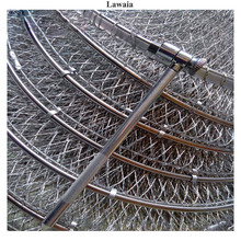 Lawaia Folding Fishing Net Cage Handmade Braided Line Fish Care Quick-drying Cages Stainless Steel Double Rings Gear