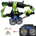 NEW LED Headlamp 6000LM 2X XM-L T6 LED 3 Modes 18650 USB 18650 AA/AAHeadlamp Headlight Head Light Torch