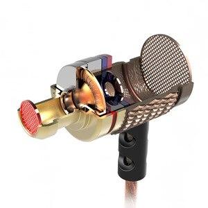 Image 4 - KZ ED Phiên Bản Đặc Biệt Mạ Vàng Nhà Ở Tai Nghe có Microphone 3.5 mét HD HiFi Trong Ear Monitor Bass Stereo Earbuds cho điện thoại