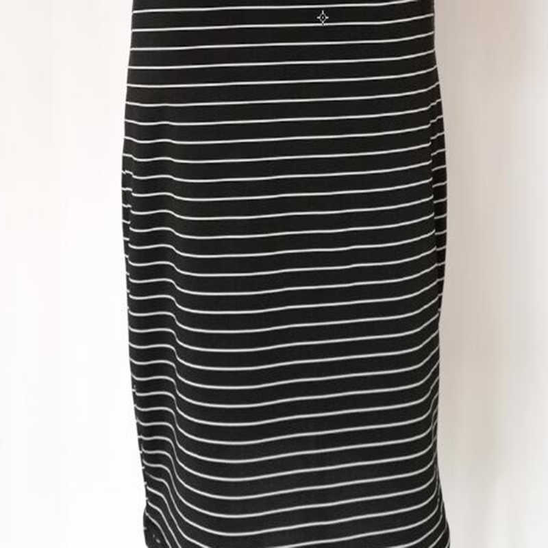 Femmes moulante Mimi robe été rayure Slim Vestidos à manches courtes filles sport robe noir Stretch basique robes décontractées