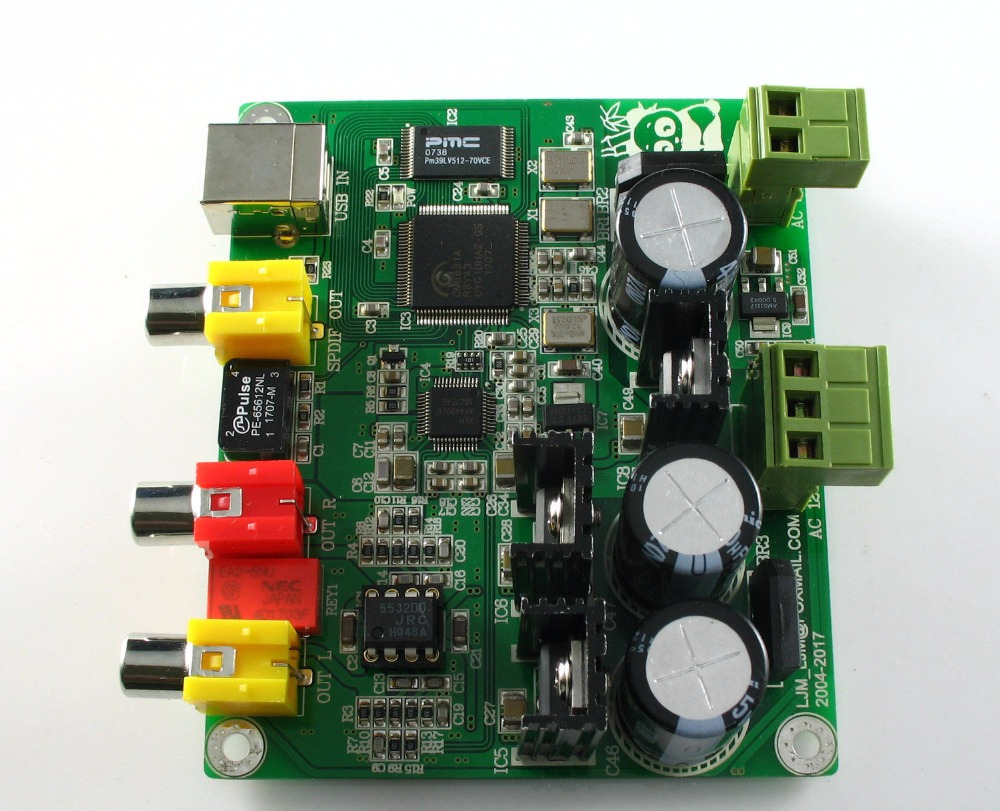 Leory Dc 5v-10v Dac Decoder Module I2s Player 32bit 384k Assembled Board A2-012for Bd Player Hdtv Amplifier Always Buy Good Audio & Video Replacement Parts Accessories & Parts