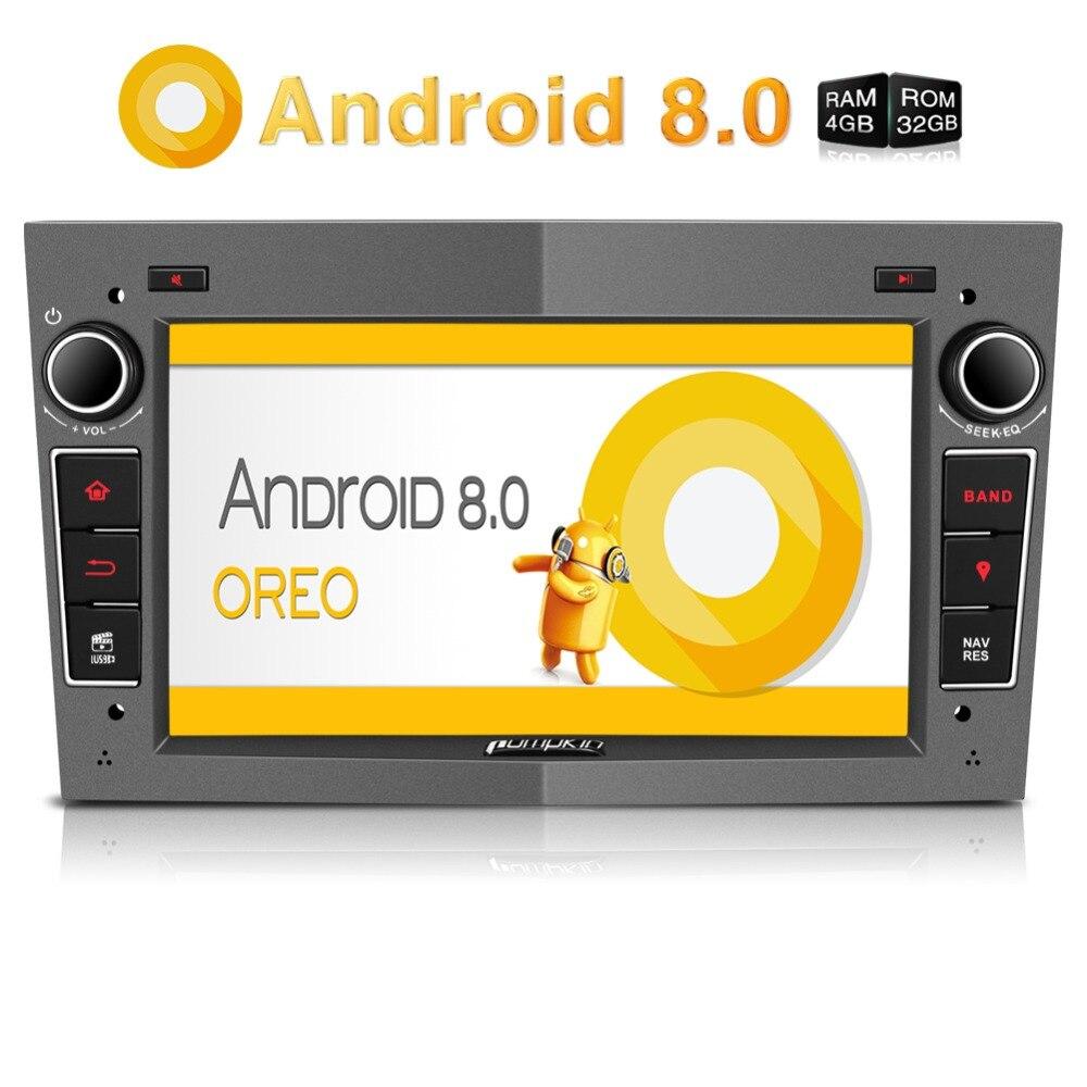 Тыквы 2 Din Android 8,0 Автомобильный мультимедийный нет dvd-плеер gps навигации Bluetooth стерео для Opel/Corsa FM AM Радио головного устройства