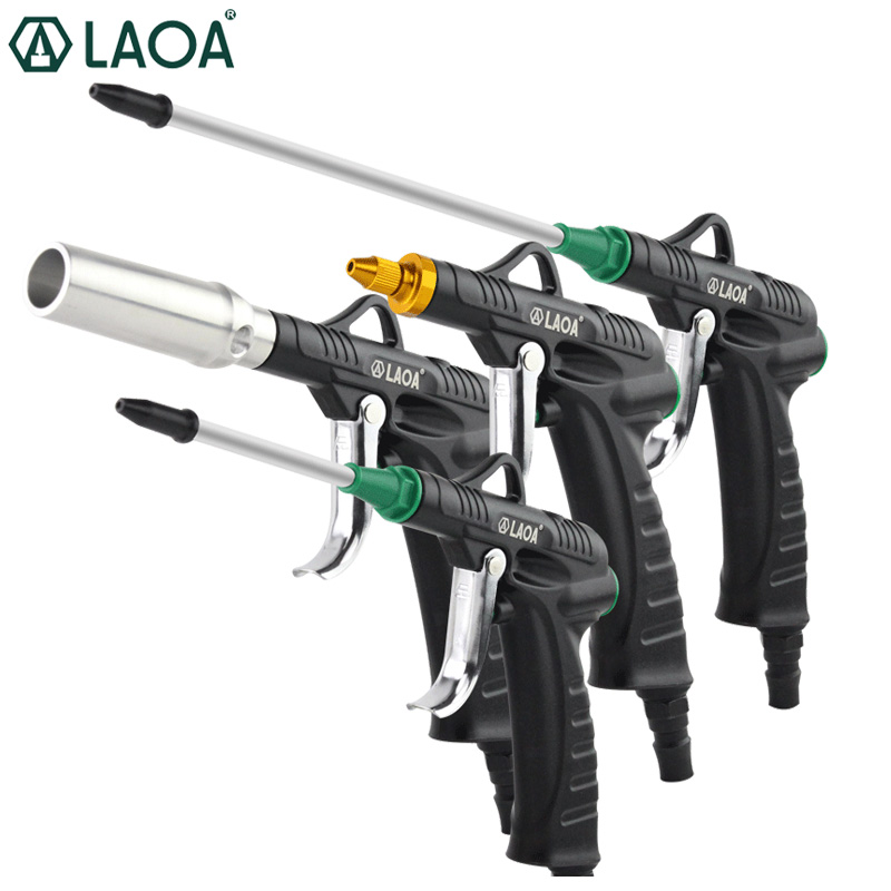 LAOA Hoge Druk Aluminium Blow Gun Air Gun Jet Pistool Professionele Cleaning Tools Dust Blow Gun