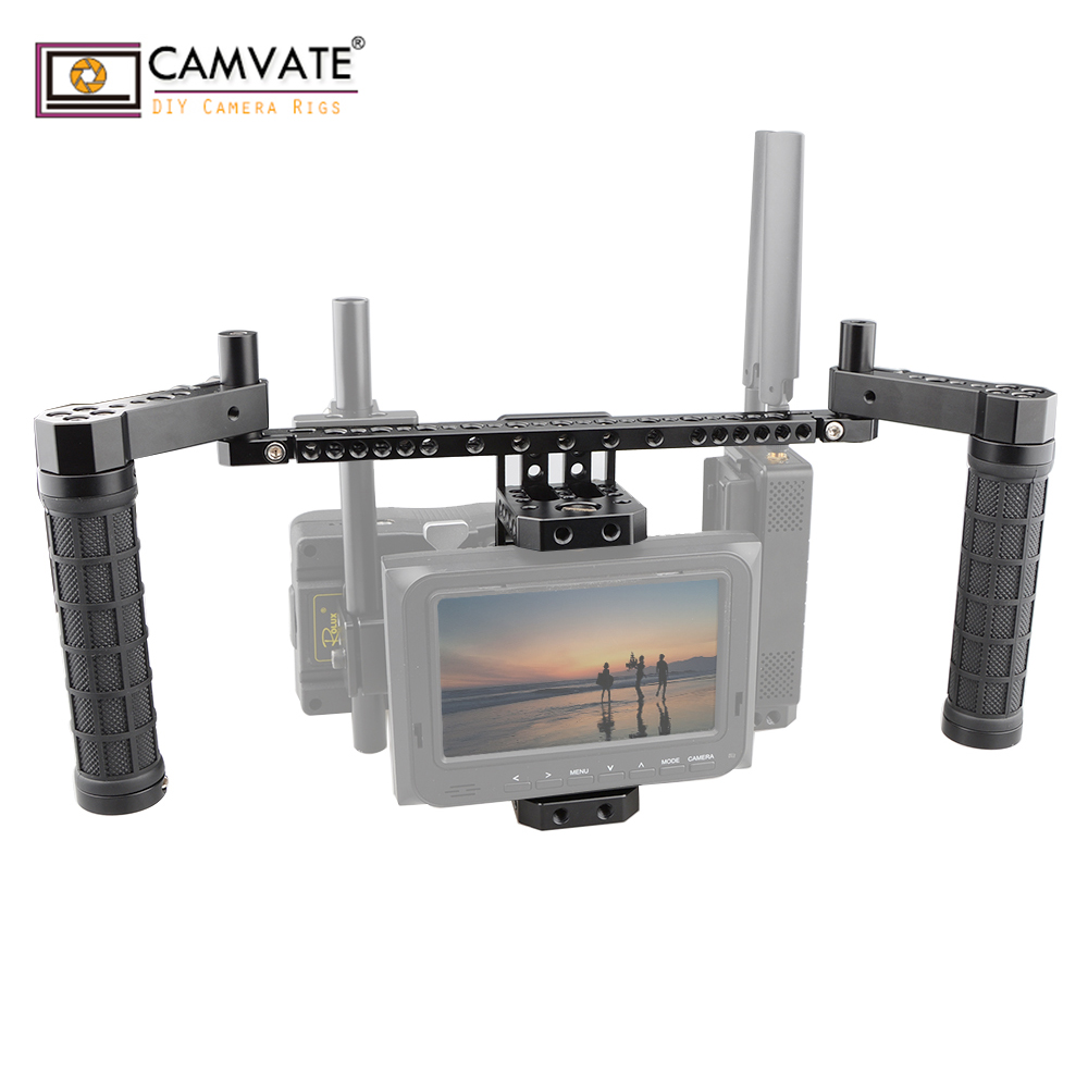 CAMVATE stabilisateur en aluminium DSLR Kit de Cage de moniteur portable (Basic) C1785 accessoires de photographie d'appareil photo