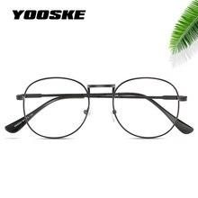 YOOSKE Rodada Claras Óculos De Armação Mulher Transparente Do Vintage  Armações de Óculos Ópticos Óculos Círculo De Metal Ouro da. 8a832c1be6