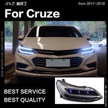 АКД стайлинга автомобилей Глава Лампа для Chevrolet Cruze фары 2017-2018 все новые Cruze светодиодный фар DRL Hid би ксенон авто аксессуары