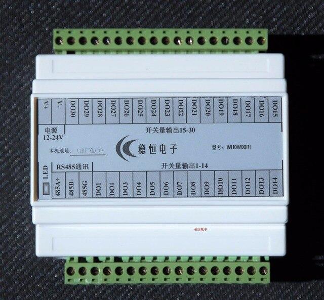 [WH0W00RI] изолированных RS485 serial card 30 позиционный переключатель количество NPN выход реле управления MODBUS