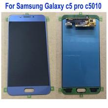 삼성 전자 갤럭시 c5 프로 c5pro c5010 전화 부품에 대한 원래 최고의 amoled lcd 디스플레이 터치 스크린 디지타이저 유리 어셈블리 센서