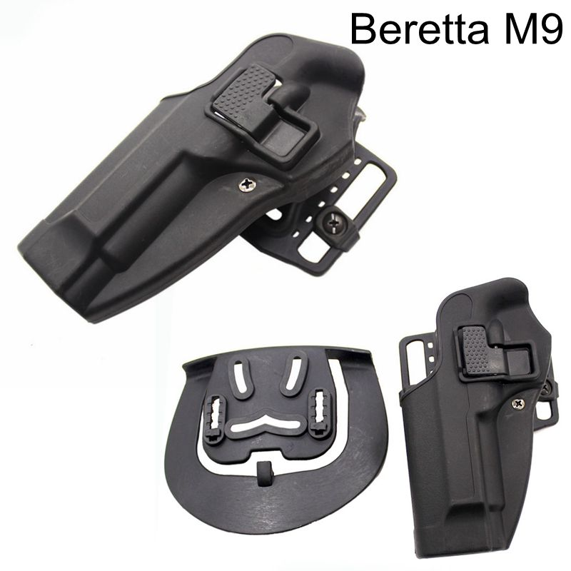 Beretta 92 96 M9 Tactical Pistol Holster Hunting Airsoft Belt Holster Left Hand Gun Case Army Military Shooting Gun Holster in Holsters from Sports Entertainment