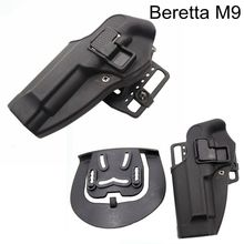 Beretta 92 / 96 M9 Tactical Pistol Holster Hunting Airsoft Belt Left Hand Gun Case Army Military Shooting