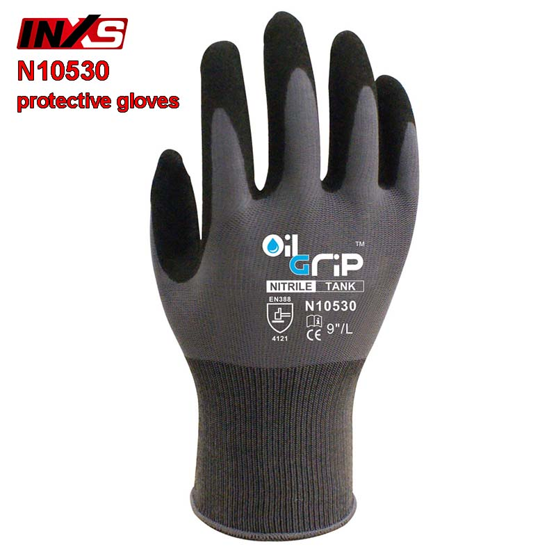 SAFETY-INXS N10530 Mechanical gloves oil-proof Wear resistant protective gloves Comfortable Breathable safety gloves strong 0 35mmpb medical x ray protective gloves ray workplace use gloves lead rubber gloves