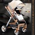 Carritos de bebé cochecito paisaje de alta puede sentarse o acostarse invierno niños cochecito de bebé de dos vías de choque cubierta carro de envío entrega