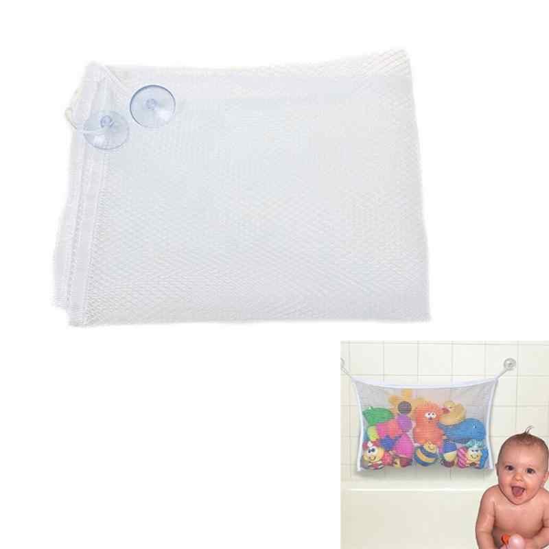 Baño del bebé de juguete organizador con succión red juguete colgante organizador de baño bebé chico organizador de almacenamiento toallas