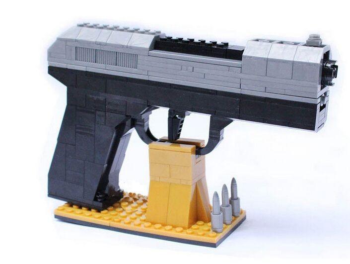 pistolet arme pistol bloc de construction brique. Black Bedroom Furniture Sets. Home Design Ideas
