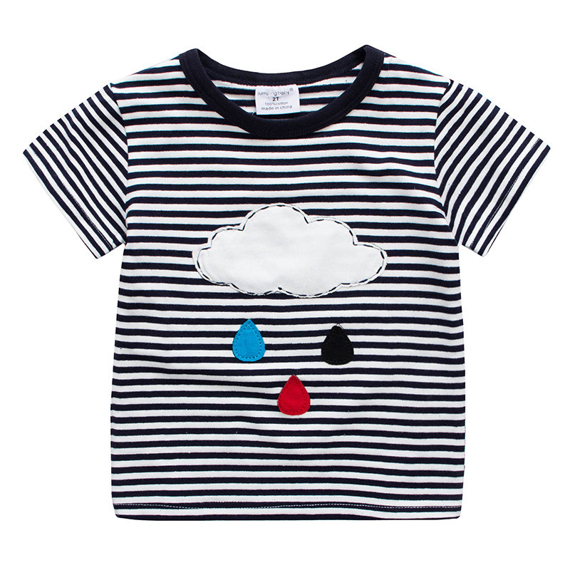 2017 Roupas Infantis Menino Kids Summer Camiseta Boys Cotton T shirt  Baby Boy T-shirts Short Clothes Children Striped Costumes jurassic world dinosaurs boys short sleeved t shirt top children roupas infantis menina 10 anos