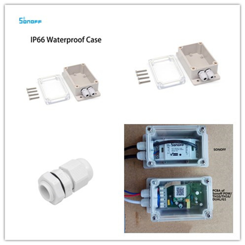 2019 Sonoff IP66 Waterproof Cover Case for Sonoff Basic Wifi Switch/POW/DUAL/TH16/G1 Smart Home