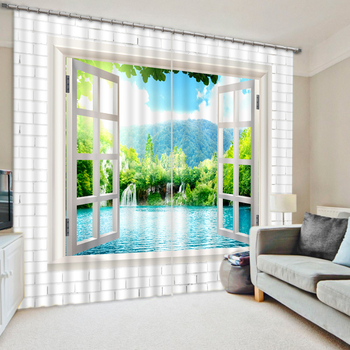 scenery curtains photo Blackout Window Drapes Luxury 3D Curtains For Living room Bed room Office Hotel Home