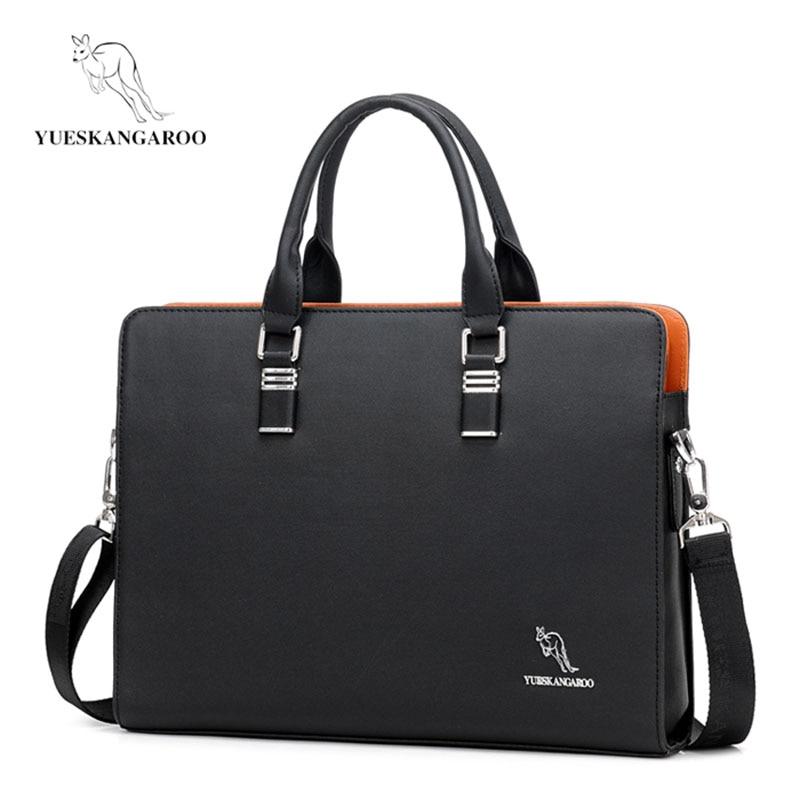 Yueskangaroo Brand Mens Business Laptop Bags Men's Travel Sh