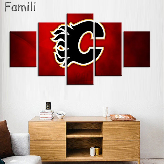 Aliexpresscom Buy 5 Pieces Calgary flames NHL Wall Art Picture