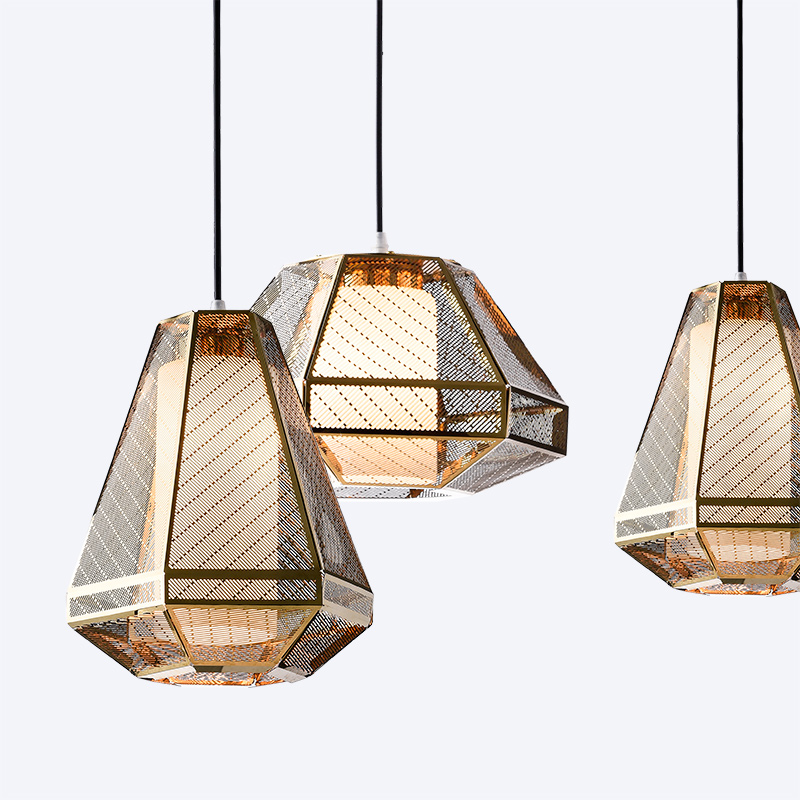 modern dining table lamp stainless steel geometric lamp geometric lamp country decor nordic design industrial style e27 light декор vitra ethereal gold geometric decor soft brown glossy 30x60