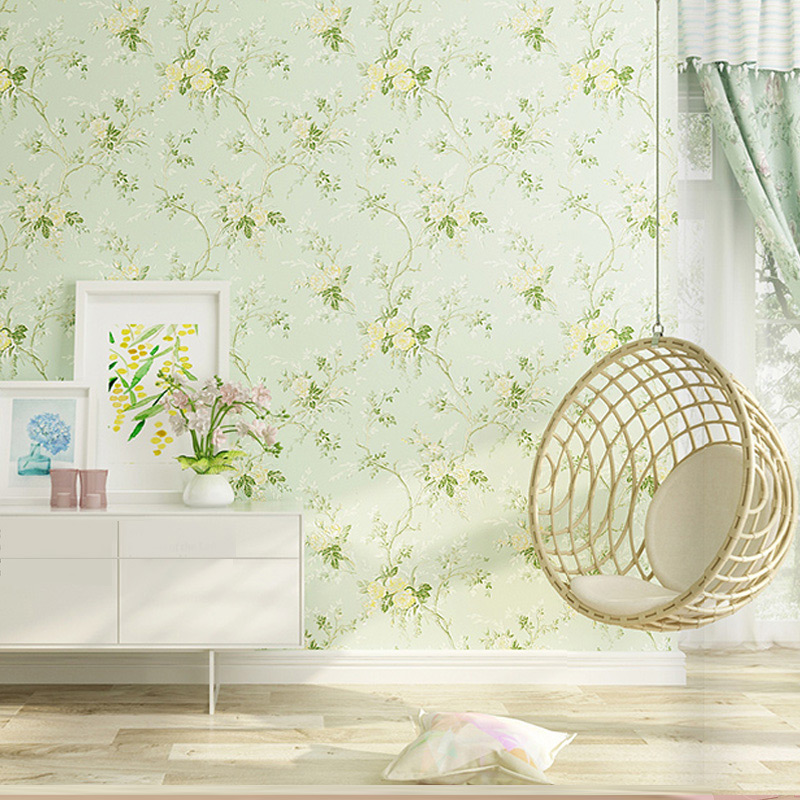 PAYSOTA Pastoral Wallpaper Bedroom Warm Romantic Small Floral Living Room Background Non - woven Wall Paper Roll wertmark бра