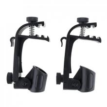 2pcs/lot Adjustable Microphone Clamp Stage Drum Shockproof Mic Mount Holder Studio Stand