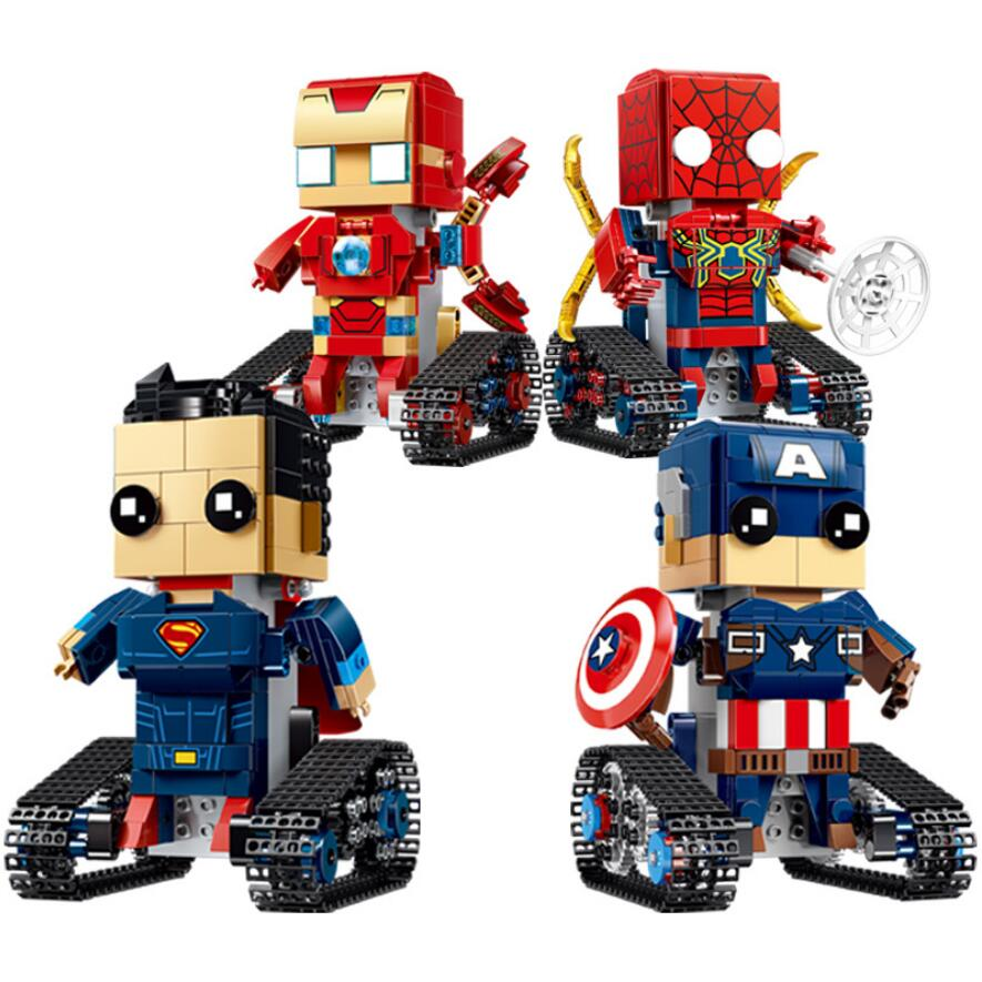 DC Avenger remote radio control head walking robot brick marvel ironman spiderman superman captain america b stack lock rc toysDC Avenger remote radio control head walking robot brick marvel ironman spiderman superman captain america b stack lock rc toys