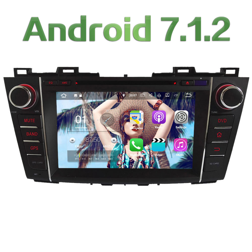 8 Android 7.1.2 Quad Core 2GB RAM 16GB ROM Car DVD Stereo radio player DAB for Mazda 5 Premacy 2009 2010 2011 2012 Support Bose dasaita android 8 0 autoradio for mazda 6 nvaigation 2006 2007 2008 2009 2010 2011 2012 support steering wheel control 1080p dab